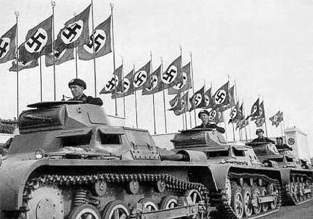 Немецкие танки на параде
